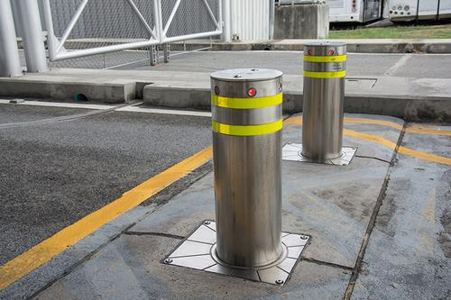 Electric bollards in Birmingham